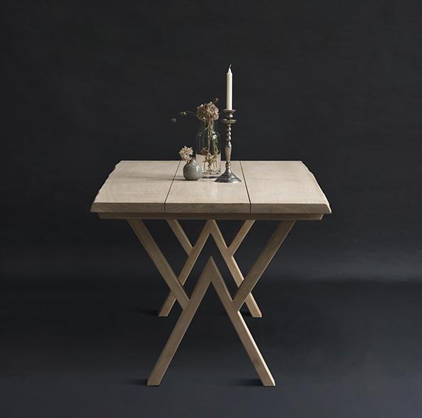 Plankebord med tre planker